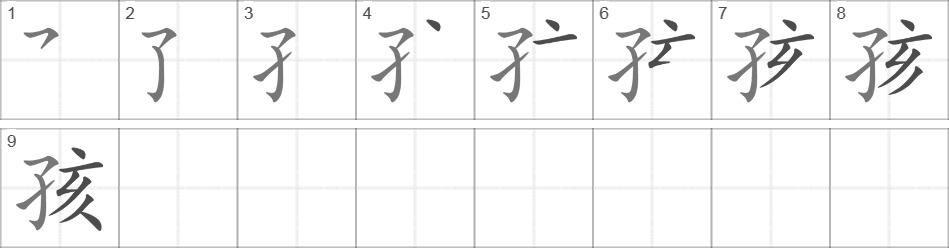 Ребенок на китайском иероглиф